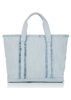 Barneys New York Women's Fringed Denim Tote Bag