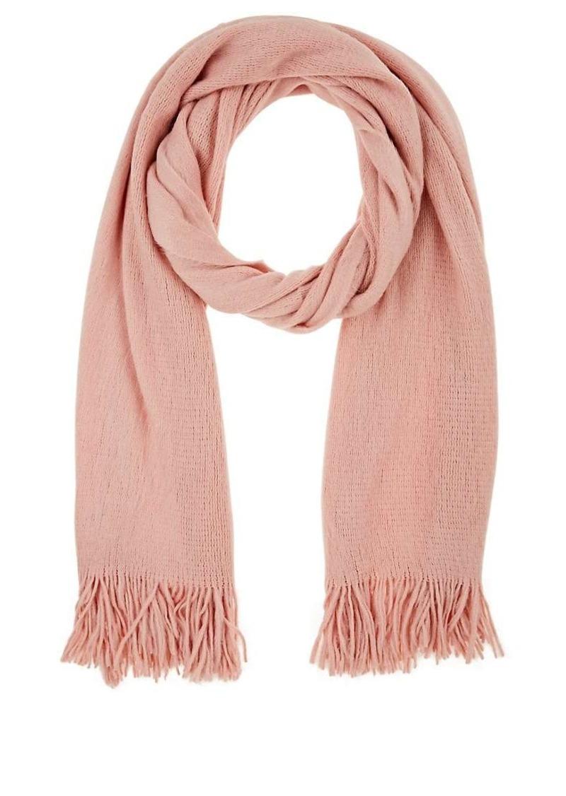 Barneys New York Women's Fringed Knit Scarf - Rose