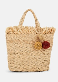 Barneys New York Women's Fringed Raffia Tote Bag - Neutral