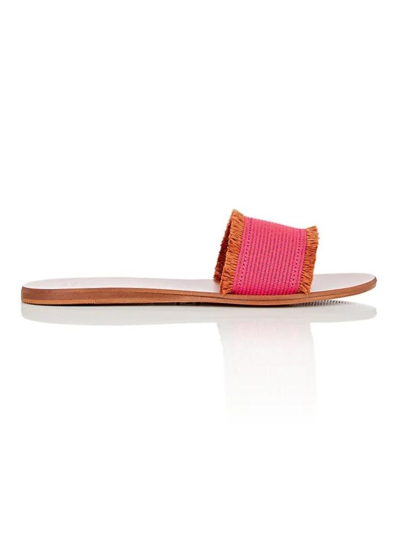 Barneys New York Women's Fringed Slide Sandals