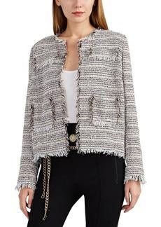 Barneys New York Women's Fringed Virgin-Wool-Blend Tweed Jacket