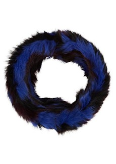Barneys New York Women's Fur Cowl Scarf - Purple