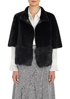 Barneys New York Women's Fur Crop Short-Sleeve Coat