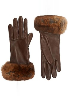 Barneys New York Women's Fur-Cuff Gloves