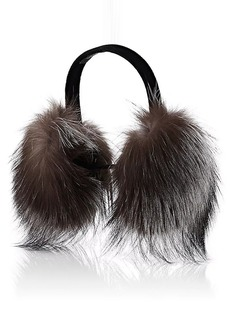 Barneys New York Women's Fur Earmuffs - Gray