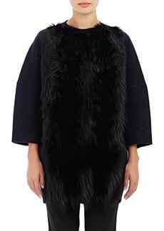 Barneys New York Women's Fur-Front Melton Coat