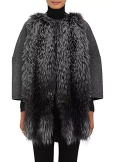 Barneys New York Women's Fur-Front Wool-Cashmere Coat