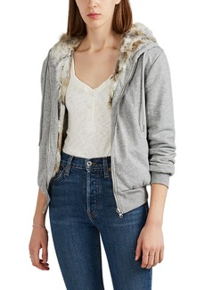 Barneys New York Women's Fur-Lined Cotton Hoodie
