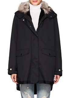 Barneys New York Women's Fur-Lined Twill Jacket