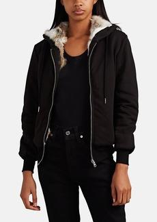 Barneys New York Women's Fur-Lined Zip-Front Hoodie