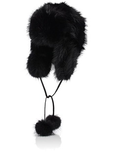 Barneys New York Women's Fur Trapper Hat - Black