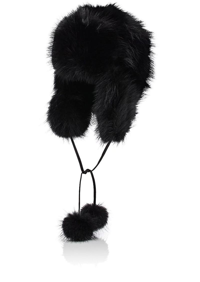 Barneys New York Women's Fur Trapper Hat - Black
