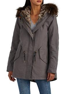 Barneys New York Women's Fur-Trimmed & Fur-Lined Cotton Jacket