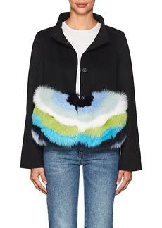 Barneys New York Women's Fur-Trimmed Wool-Cashmere Coat