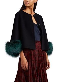 Barneys New York Women's Fur-Trimmed Wool-Cashmere Melton Jacket
