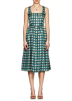 Barneys New York Women's Geometric-Print Silk Dress