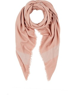 Barneys New York Women's Glen Plaid Wool Scarf - Peach