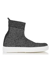 Barneys New York Women's Glitter-Knit Sock Sneakers