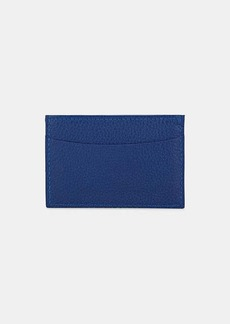 Barneys New York Women's Grained Leather Business Card Case - Blue