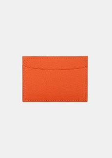Barneys New York Women's Grained Leather Business Card Case - Orange
