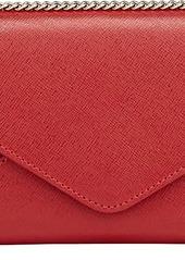 Barneys New York Women's Hannah Chain Wallet - Red