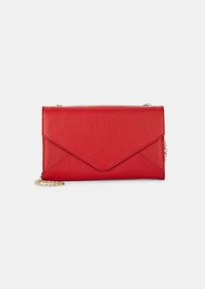 Barneys New York Women's Hannah Leather Chain Wallet - Red