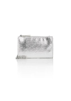 Barneys New York Women's Hannah Metallic Crossbody Bag - Silver
