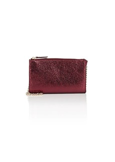 Barneys New York Women's Hannah Metallic Leather Crossbody Bag - Red