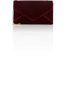 Barneys New York Women's Hannah Velvet Chain Wallet - Wine