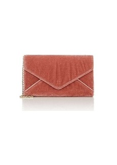 Barneys New York Women's Hannah Velvet Chain Wallet - Pink