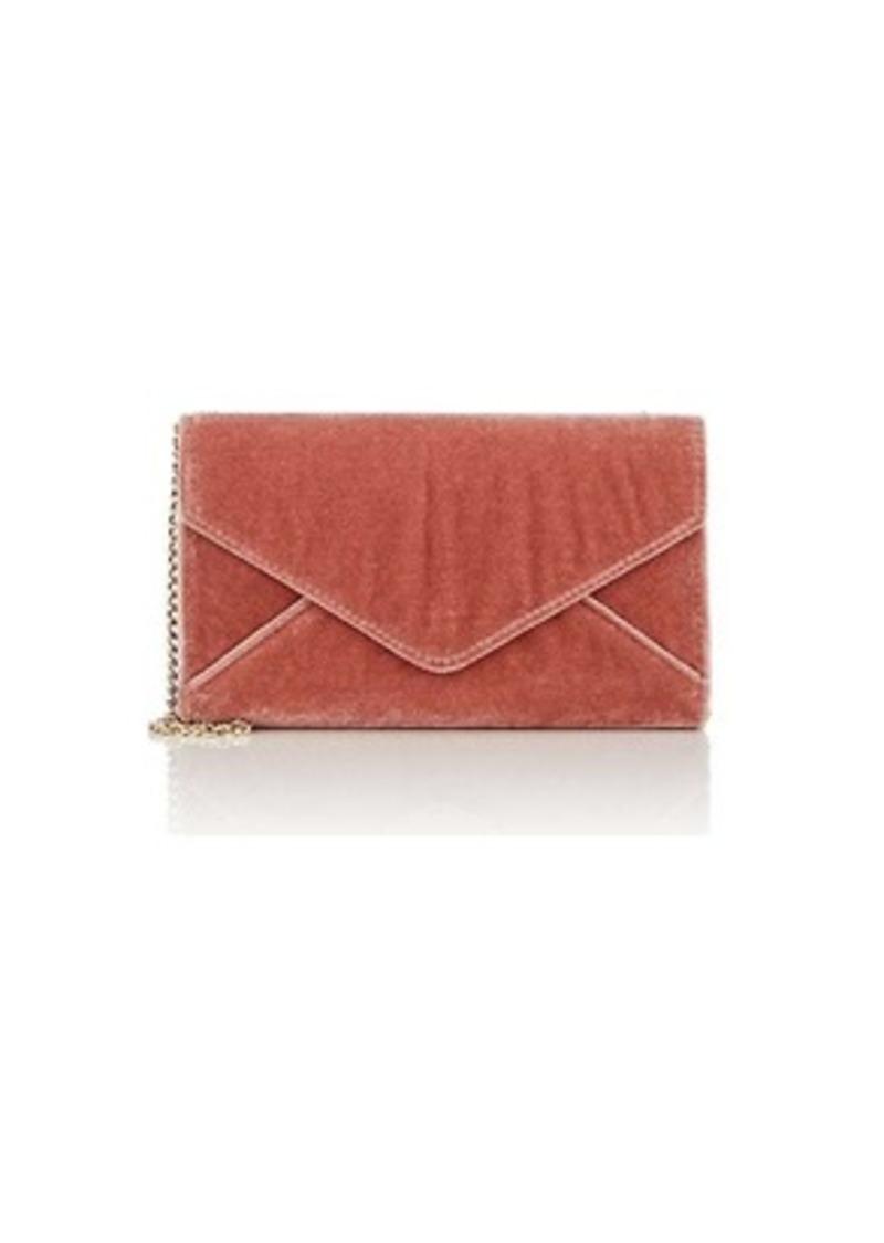 Barneys New York Women's Hannah Velvet Chain Wallet - Pink