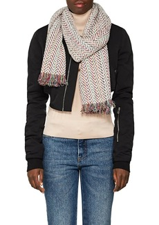 Barneys New York Women's Herringbone Cashmere-Blend Bouclé Scarf
