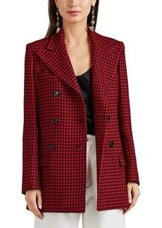 Barneys New York Women's Houndstooth Wool Double-Breasted Coat