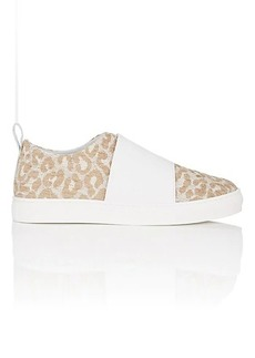 Barneys New York Women's Jacquard & Leather Slip-On Sneakers