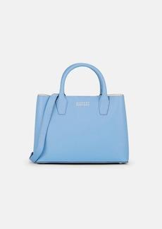 Barneys New York Women's Jane Leather Bucket Bag - Blue