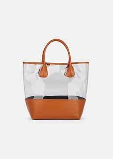 Barneys New York Women's Jelly Leather-Trimmed PVC Tote Bag