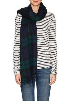 Barneys New York Women's Jura Checked Lambswool-Angora Scarf - Green