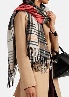 Barneys New York Women's Jura Plaid Wool-Angora Scarf - Black