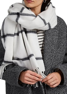 Barneys New York Women's Jura Plaid Wool-Angora Scarf - Black