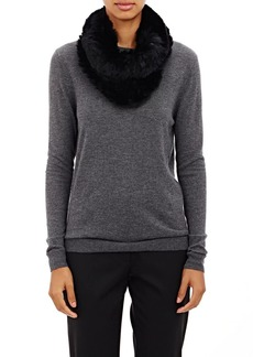 Barneys New York Women's Knitted-Fur Cowl Scarf - Black