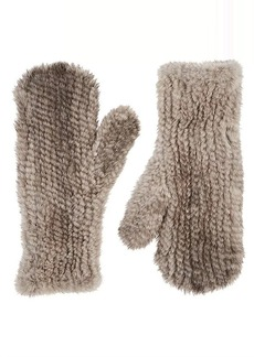 Barneys New York Women's Knitted Mink Fur Mittens - Neutral