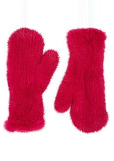 Barneys New York Women's Knitted Mink Fur Mittens - Pink