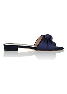 Barneys New York Women's Knot-Detail Suede & Satin Sandals