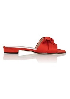 Barneys New York Women's Knot-Detail Suede & Satin Sandals