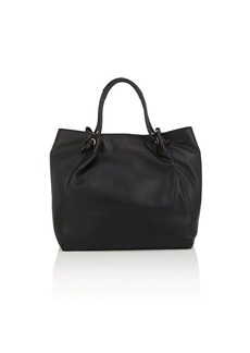 Barneys New York Women's Knot-Handle Leather Tote Bag - Black