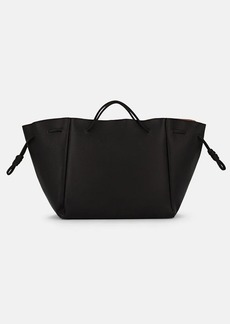 Barneys New York Women's Knotted Leather Tote Bag - Black