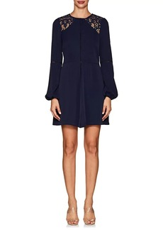Barneys New York Women's Lace-Inset Crepe Dress
