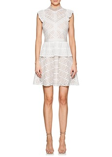 Barneys New York Women's Lace Open-Back Peplum Dress