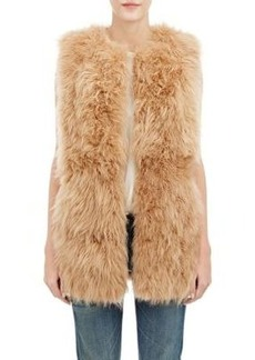 Barneys New York Women's Lamb Fur Long Vest
