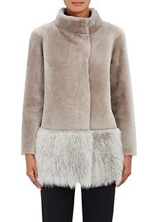 Barneys New York Women's Lamb Shearling Coat